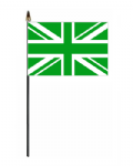 Great Britain Green Hand Flag - Small.